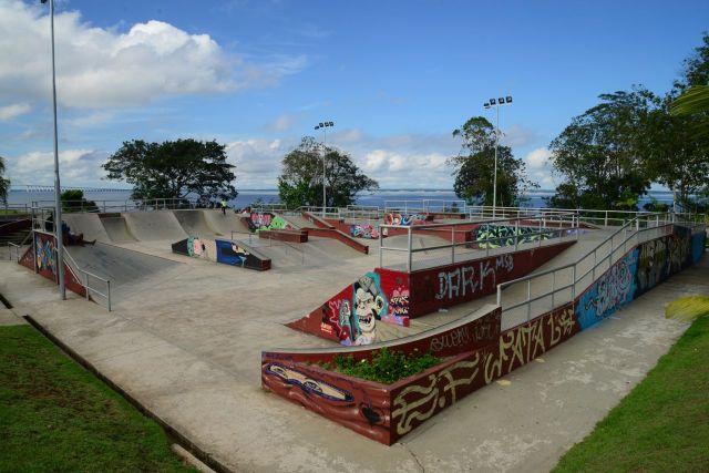 Parque de skate do Parque da Ponta Negra.