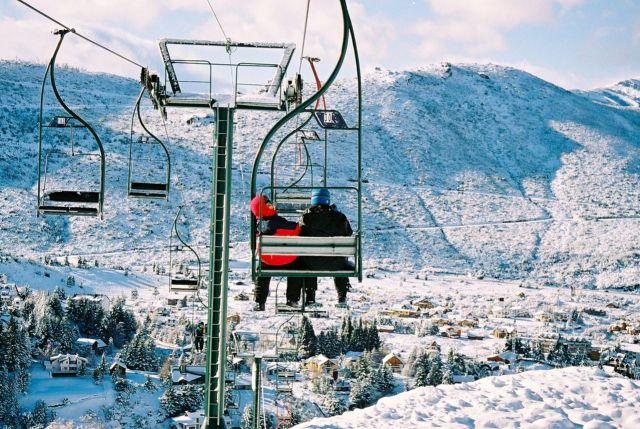 O teleférico que dá acesso ao Cerro Catedral.