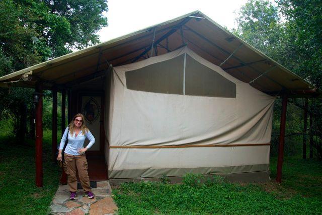 As barracas/quartos do Ashnil Mara Camp.