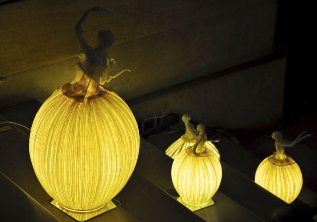 Luminárias na Ópera de Paris.
