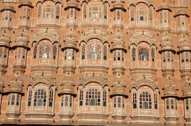 O Palácio dos Ventos em Jaipur.