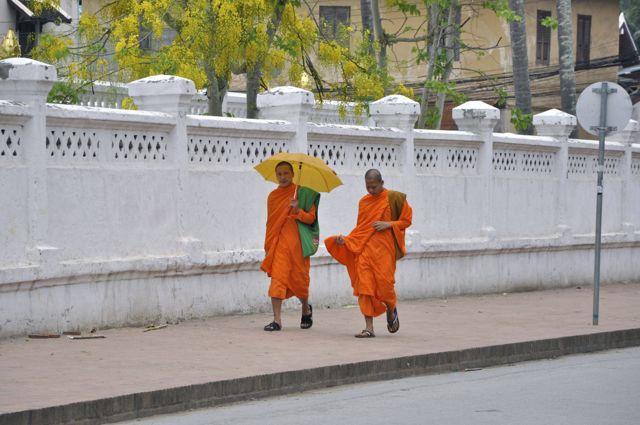 Monges budistas em Luang Prabang