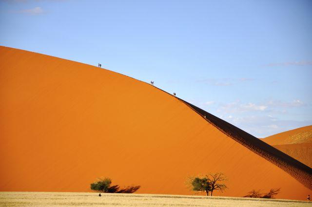 As dunas vermelhas de Sossusvlei