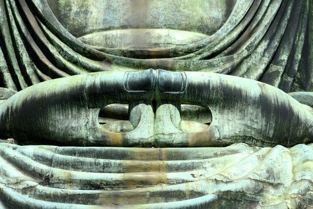 Detalhe do Grande Buda de Kamakura.