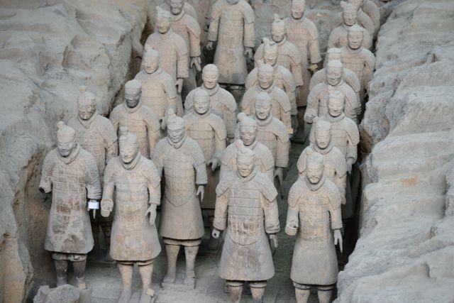 Guerreiros de Terracota de Xian.
