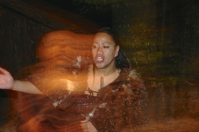 Dançarina Maori.