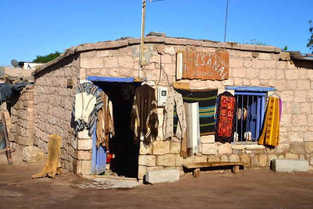 Loja de artesanato no Povoado Toconao.