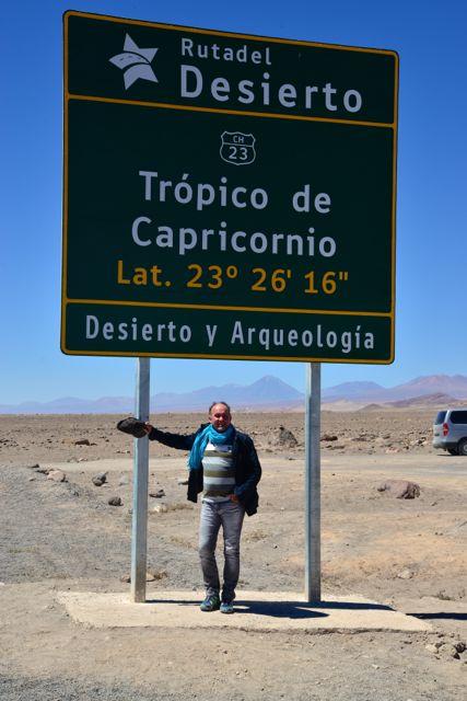 O Trópico de Capricórnio passa pelo Deserto do Atacama.