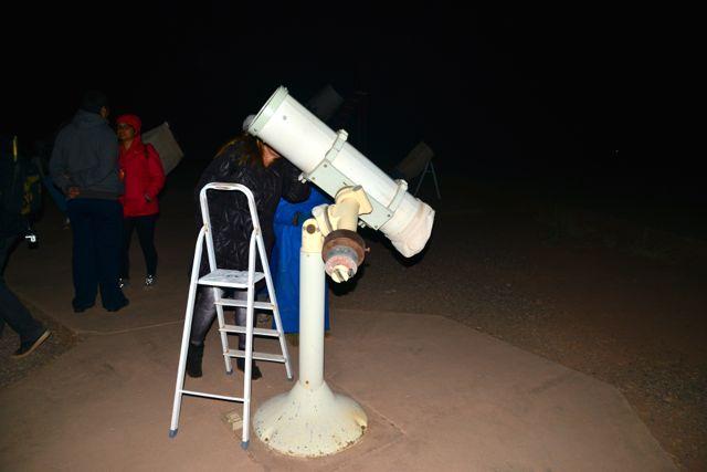 Um dos telescópios do centro de observação da Space.