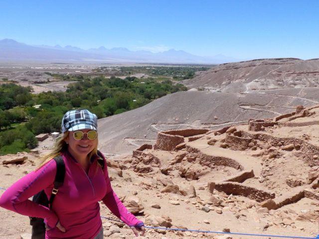 As trilhas do Pukara de Quitor.