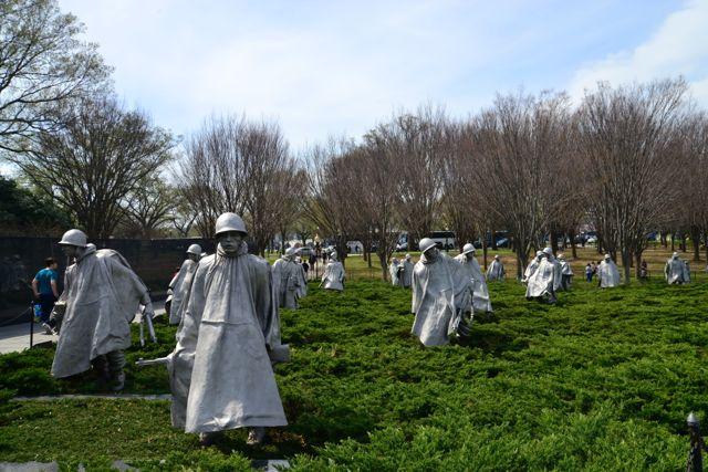 O Memorial dos Veteranos da Guerra da Coréia.