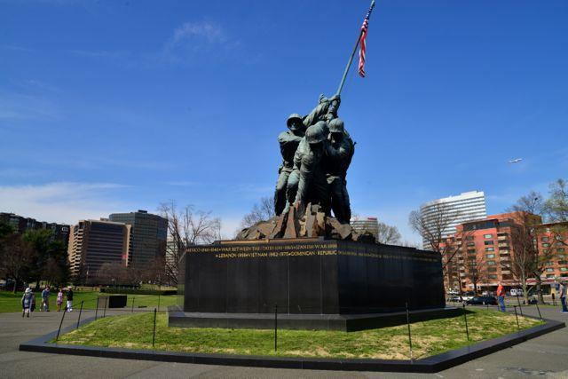 O Memorial de Iwo Jima.