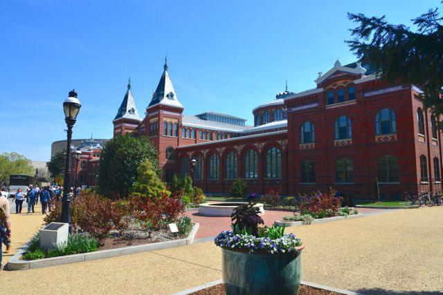 A sede dos museus Smithsonian.