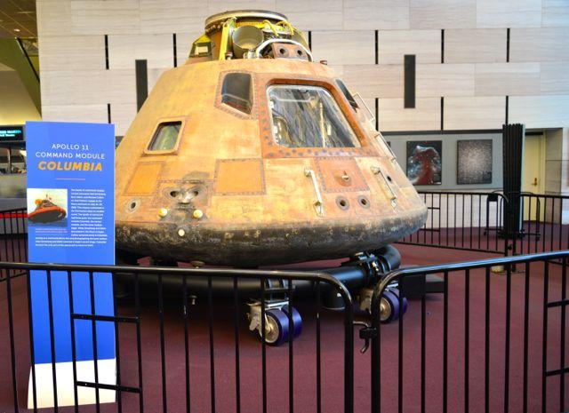 O módulo de comando da Apolo 11