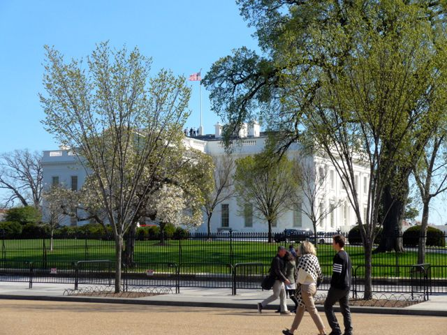 A Casa Branca sob outro ângulo.