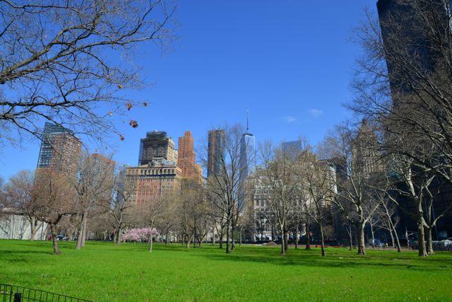 Um perfil de Lower Manhattan.