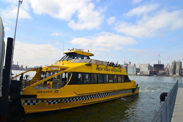 O Water Taxi de Nova York.