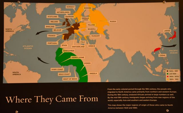 Imigrantes saíram dos diversos lugares do Mundo para os Estados Unidos.