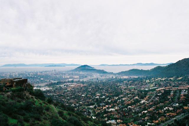 A vista panorâmica do Cerro San Cristóbal
