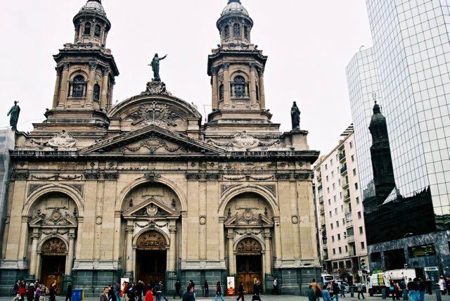 A Catedral Metropolitana de Santiago.