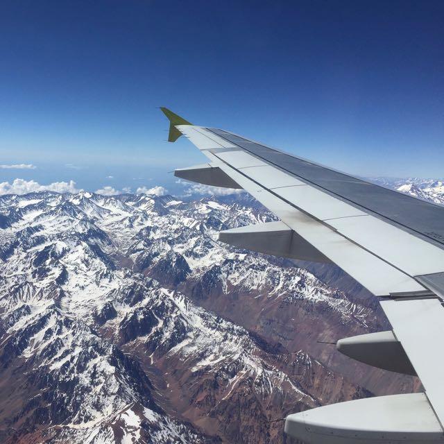 Na chegada ao Chile, a Cordilheira dos Andes já impressiona.