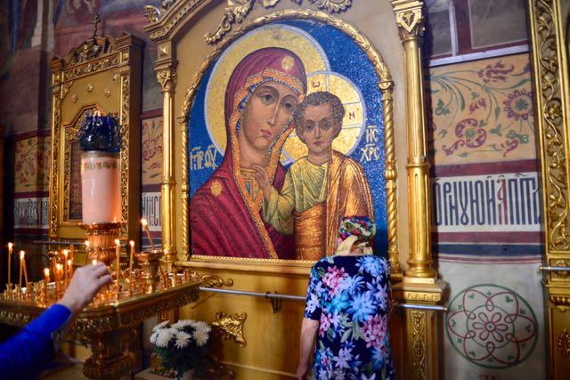 Um dos belos ícones da Catedral