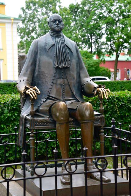 Mais uma estátua de Pedro, o Grande