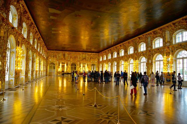 O magnífico salão de festas do Palácio