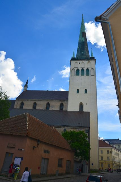 A torre da Igreja de São Olavo, já foi a maior construção da Europa.