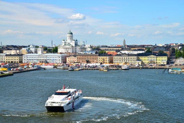 A saída de Helsinque.
