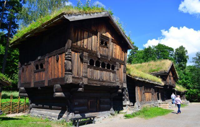 Uma vila tradicional da Noruega.