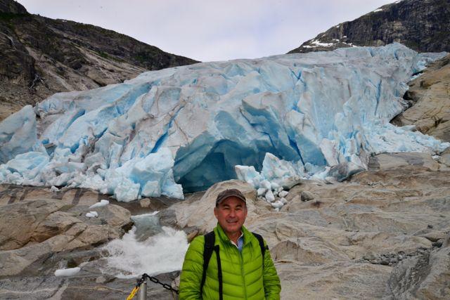 Chegando ao Glaciar Nigardsbreen