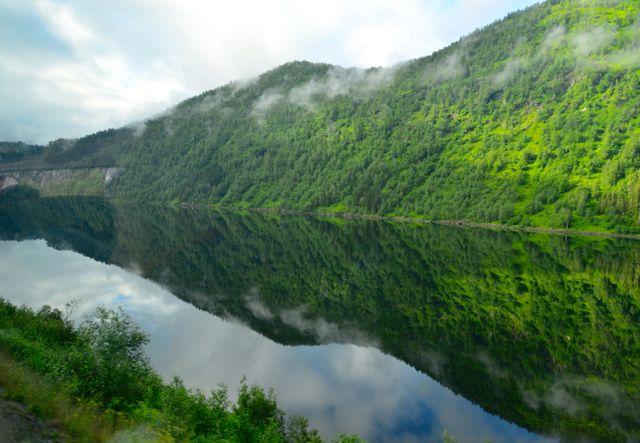 Lago de origem glacial.