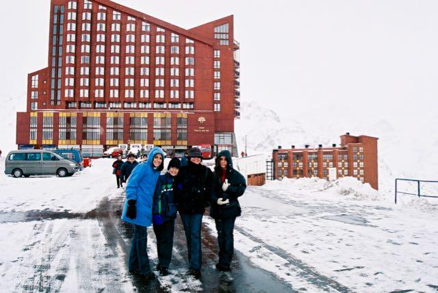 Chegando a Valle Nevado