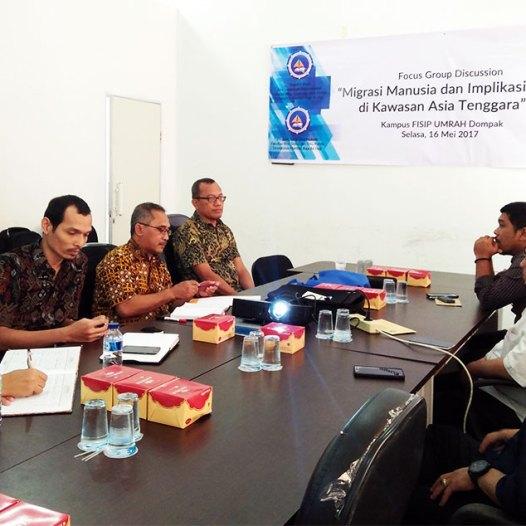 Focus Group Discussion, Migrasi Manusia dan Implikasinya di Kawasan Asia Tenggara