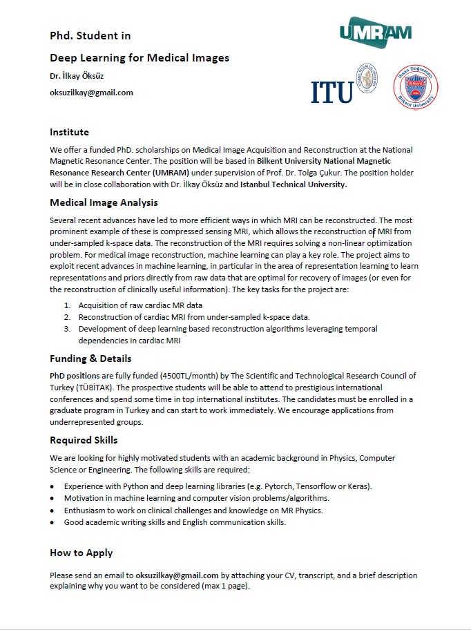 Phd. Student in Deep Learning for Medical Images