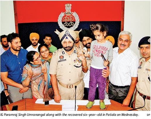 Umranangal recovered six year old boy in Patiala
