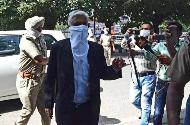 ex-DGP Sumedh Saini finally appears in court