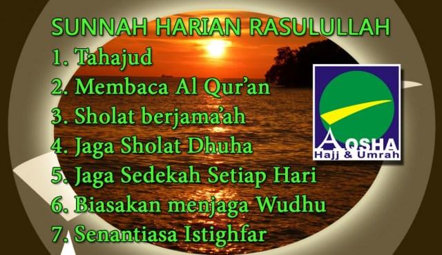 Sunnah Harian Rasulullah