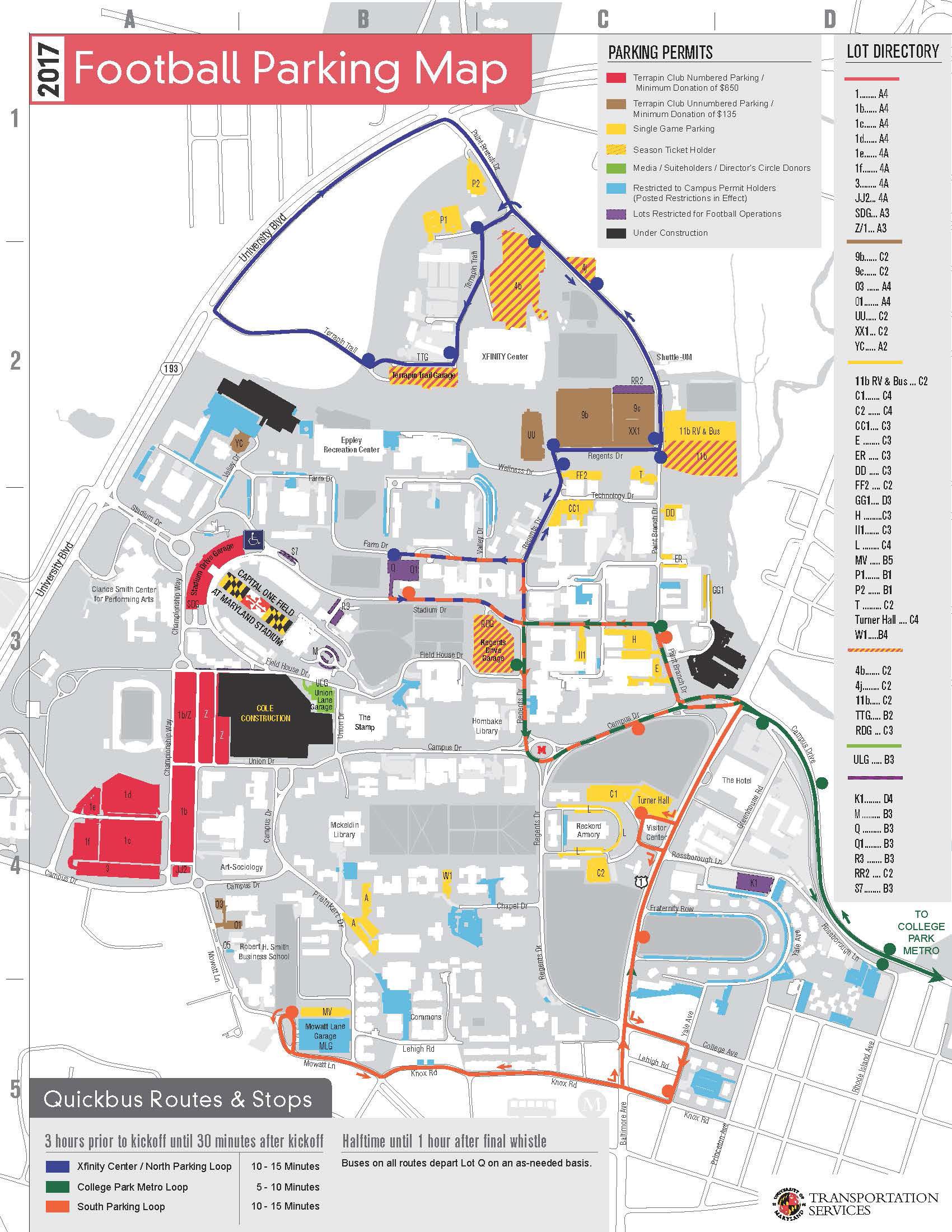Umd Parking Map : parking, Tailgating, Guide, University, Maryland, Athletics