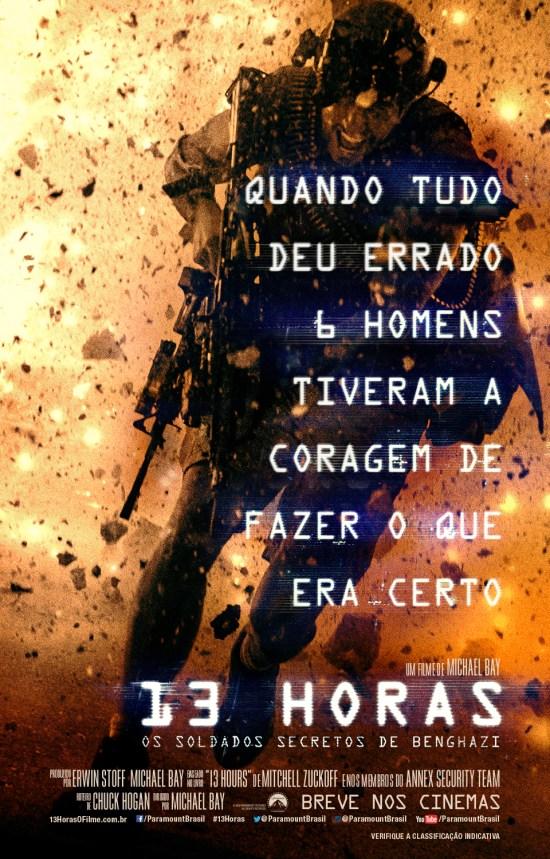 13 Horas: Os Soldados Secretos de Benghazi | Pôster brasileiro