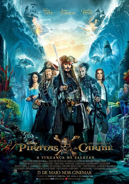 Piratas do Caribe: A Vingança de Salazar | Cartaz nacional