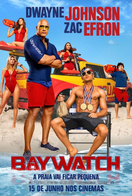 Baywatch: SOS Malibu | Pôster brasileiro