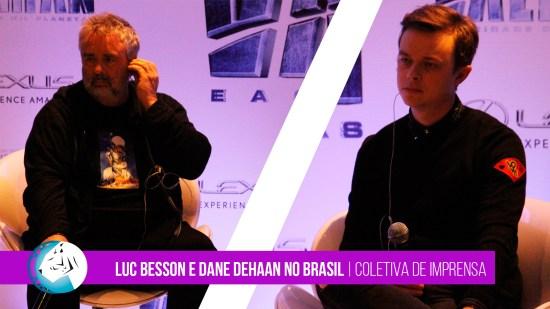 Luc Besson e Dane DeHaan no Brasil