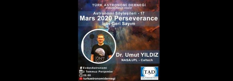Türk Astronomi Derneği | Mars Perseverance İçin Geri Sayım