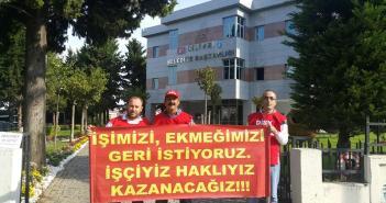 Silivri Belediyesi İşçileri Direnişte