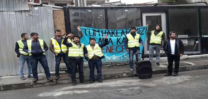 4 aydır maaş alamayan Evril İnşaat işçileri direniş başlattı