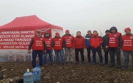 Birleşik Metal'e üye oldukları için işten atılan Umer Haddecilik işçileri hukuki mücadeleyi kazandı!