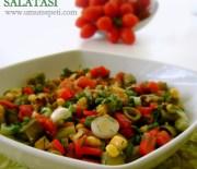 Sebzeli ve Yoğurtlu Bakla Salataları