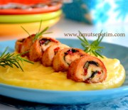 Amerikan Püreli Tavuk ve Peynirli Semizotu Salatası ;)